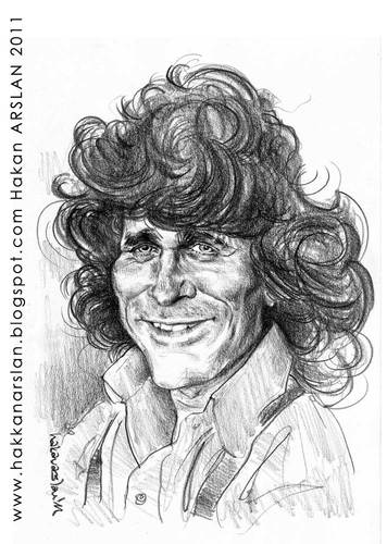 Cartoon: Michael Landon (medium) by hakanarslan tagged portraitcaricature,michaellandon