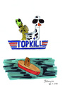 Cartoon: Top Kill (small) by Blogrovic tagged ölpest,bp,golf,von,mexiko,top,kill