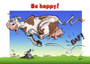 Cartoon: Spring is in the Air (small) by Stan Groenland tagged spring,cow,happiness,happy,cartoon,funny,art,animals,greeting,cards