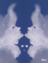 Cartoon: cloud face 27 (small) by besscartoon tagged wolken,himmel,optische,täuschung,vexierbild,cloud,face,bess,besscartoon