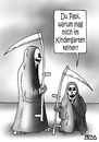 Cartoon: Kinder-Gram (small) by besscartoon tagged vater,sohn,sensenmann,kindergarten,tod,sterben,bess,besscartoon