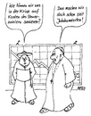 Cartoon: ohne Titel (small) by besscartoon tagged religion,kirche,pfarrer,krise,geld,bess,besscartoon