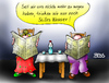 Cartoon: Stilles Wasser (small) by besscartoon tagged paar,ehe,wasser,sprudel,beziehung,alter,kommunikation,bess,besscartoon