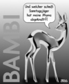 Cartoon: Waidmannsheil (small) by besscartoon tagged tiere,bambi,reh,mutter,mama,kind,abgeknallt,gewalt,jäger,sonntagsjäger,jagd,bess,besscartoon