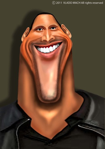 Cartoon: Dwayne Johnson (medium) by Vlado Mach tagged dwayne,johnson,movie,action
