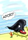 Cartoon: Greenpeace (small) by Vlado Mach tagged gute,versuch