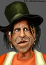 Cartoon: Keith Richards (small) by Vlado Mach tagged keith richards rolling stones guitar music