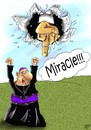 Cartoon: Miracle (small) by Vlado Mach tagged god,religion,opinion,we
