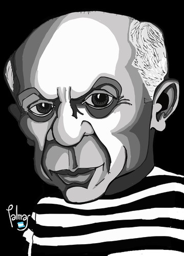 Cartoon: Picasso (medium) by Palmas tagged arte