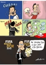 Cartoon: balon de oro (small) by lucholuna tagged balon,de,oro,christinano,ronaldo