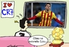 Cartoon: ronaldo Balon de oro y Messi (small) by lucholuna tagged messi,ronaldo,cristiano,balondeoro