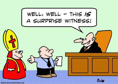 Cartoon: bishop surprise witness judge (medium) by rmay tagged bishop,surprise,witness,judge