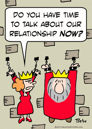 Cartoon: dungeon king queen talk relation (medium) by rmay tagged dungeon,king,queen,talk,relationship