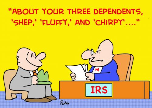 Cartoon: FLUFFY CHIRPY IRS (medium) by rmay tagged fluffy,chirpy,irs