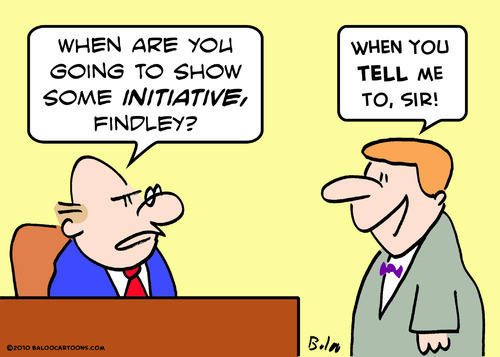 Cartoon: show initiative boss (medium) by rmay tagged show,initiative,boss