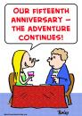 Cartoon: anniversary adventure continues (small) by rmay tagged anniversary,adventure,continues