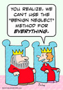 Cartoon: benign neglect king queen (small) by rmay tagged benign,neglect,king,queen