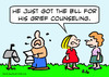 Cartoon: bill for grief counseling (small) by rmay tagged bill,for,grief,counseling