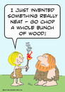 Cartoon: bunch wood invent fire caveman (small) by rmay tagged bunch wood invent fire caveman