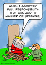 Cartoon: burn stake king responsibility (small) by rmay tagged burn,stake,king,responsibility