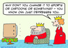 Cartoon: CNN just depresses king queen (small) by rmay tagged cnn,just,depresses,king,queen