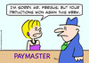 Cartoon: deductions won paymaster (small) by rmay tagged deductions,won,paymaster