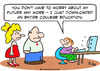 Cartoon: downloaded college education (small) by rmay tagged downloaded,college,education