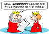 Cartoon: frog incident leaked press king (small) by rmay tagged frog,incident,leaked,press,king