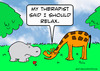 Cartoon: giraffe hippo doctor relax (small) by rmay tagged giraffe,hippo,doctor,relax