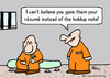 Cartoon: hole up note resume prisoners (small) by rmay tagged hole,up,note,resume,prisoners