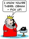 Cartoon: king obama phone (small) by rmay tagged king,obama,phone
