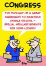 Cartoon: MEDICARE FOR SORE LOSERS CONGRES (small) by rmay tagged medicare,for,sore,losers,congress
