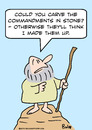 Cartoon: moses made up commandments (small) by rmay tagged moses made up commandments