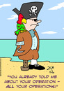 Cartoon: pirate parrot told operations (small) by rmay tagged pirate,parrot,told,operations