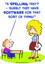 Cartoon: spelling test school software (small) by rmay tagged spelling,test,school,software