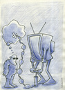 Cartoon: TV (small) by HAMED NABAHAT tagged tv
